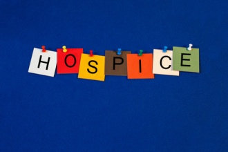 """The word """"HOSPICE"""" spelled out."""