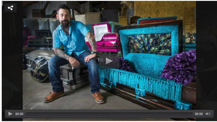 When Trey Ganem thought about his death the last thing he wanted to be buried in was a typical casket. Twenty-two years later, he followed his dream of building customized caskets.
