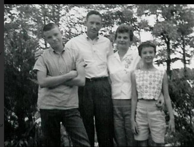 Woody and his family. Woody on the left, his father, and mother and sister. Photo provided by Woody Paige.