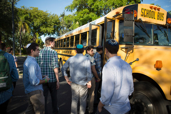 Yeshiva High School sent 77 senior students to the funeral home as part of a course teaching Judaic practices and traditions surrounding death, dying and grief. Credit Madeline Gray for The New York Times