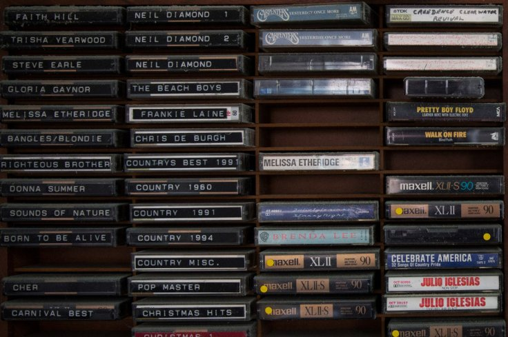 Shelves were stacked with music tapes and videos. Credit Josh Haner/The New York Times